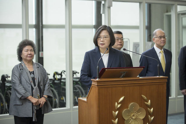 President Tsai delivers remarks before departing on her Journey of Freedom, Democracy, and Sustainability