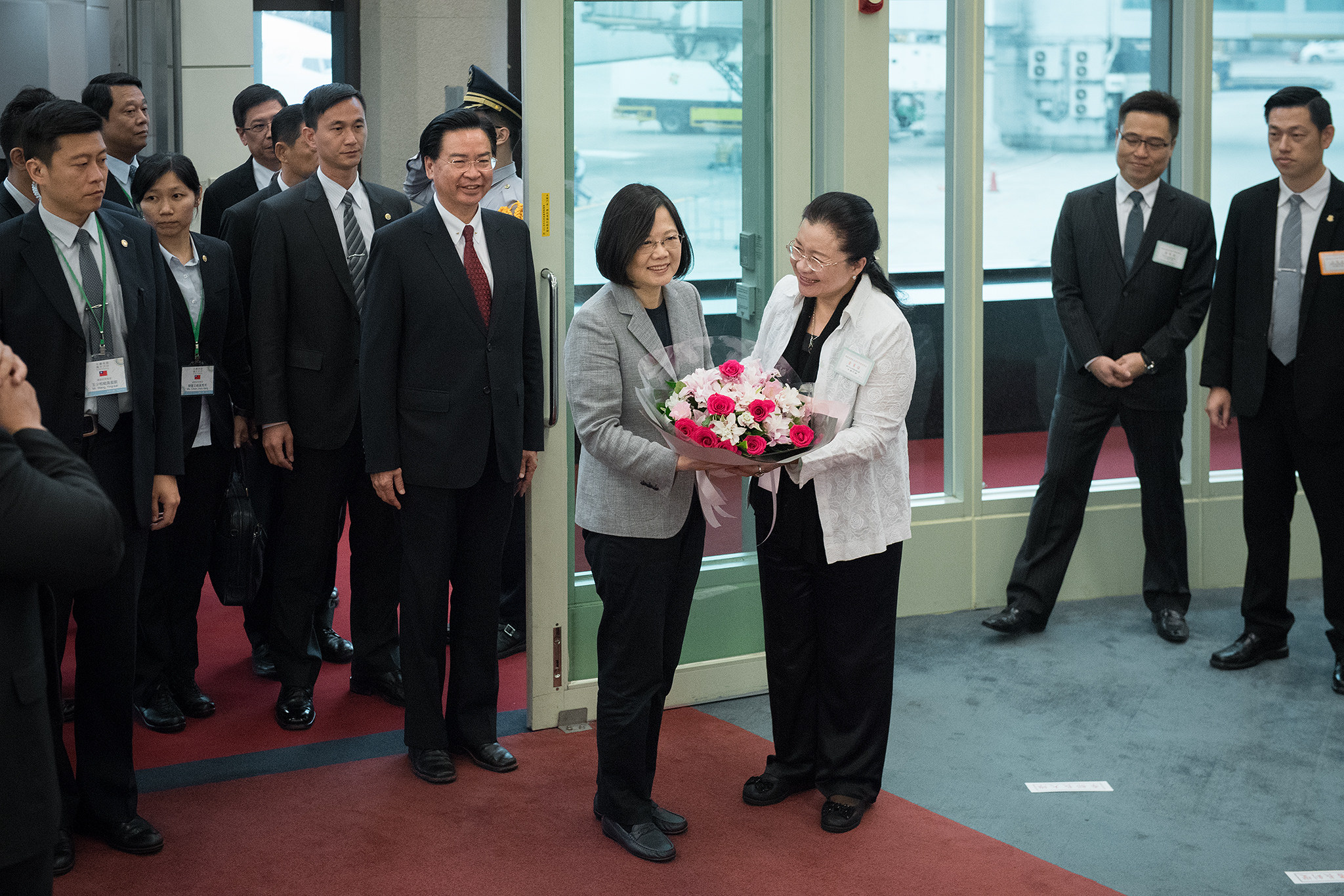 President Tsai's remarks upon returning to Taiwan