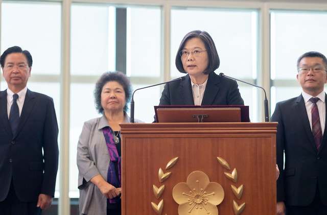 "President Tsai issues remarks after returning from ""Journey of Freedom, Democracy, and Sustainability"" state visits"