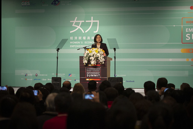 President Tsai delivers remarks at the 2019 Women's Economic Empowerment Summit.