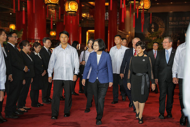 President Tsai Ing-wen attends a reception for the 197th anniversary of the independence of Central America.