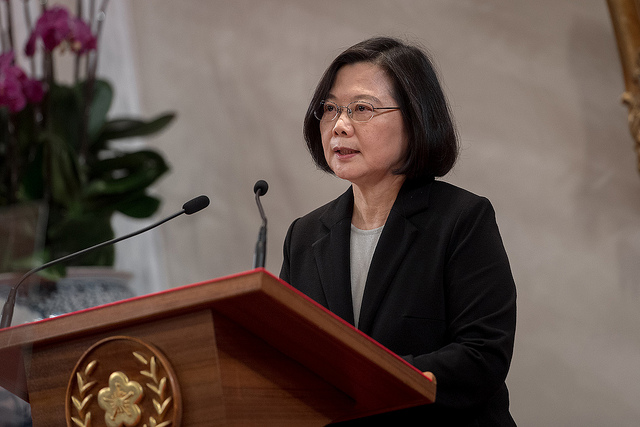 "President Tsai Ing-wen issues a statement on China's President Xi's ""Message to Compatriots in Taiwan."""
