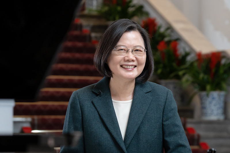 President Tsai Ing-wen delivers remarks for the Lunar New Year via video.