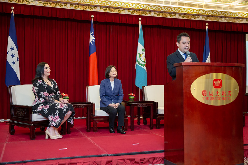 President Tsai attends a reception for the 199th anniversary of the independence of Central America.