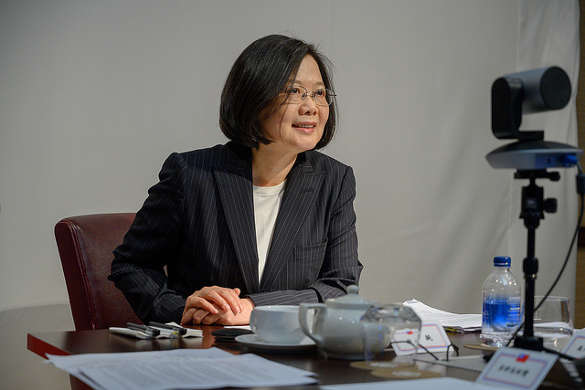 President Tsai attends a videoconference with the US Heritage Foundation.