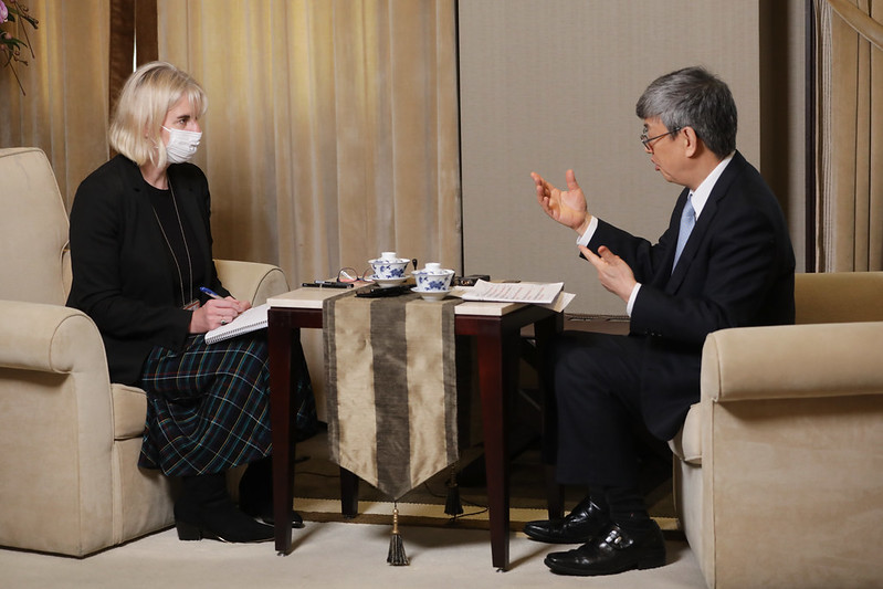 Vice President Chen is interviewed by The Daily Telegraph.