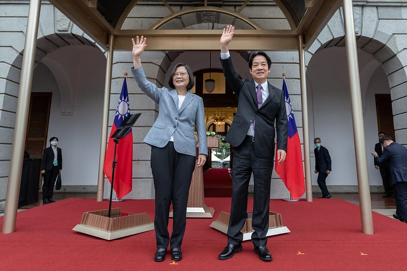 President Tsai Ing-wen and Vice President Lai Ching-te attend inaugural celebrations at the Taipei Guest House.