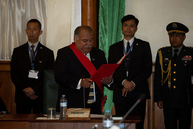 Nauru's President Baron Waqa states in remarks that President Tsai's visit demonstrates the special friendship that links Taiwan and Nauru, and that it is worth commemorating.