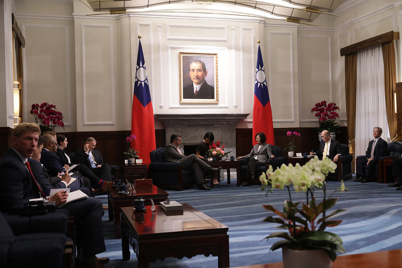 President Tsai meets with a delegation led by Ted Cruz, member of the US Senate Foreign Relations Committee.