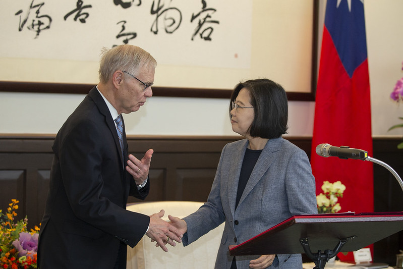 President Tsai Ing-wen meets with Dr. Richard Bush, Brookings Institution Chen-Fu and Cecilia Yen Koo Chair in Taiwan Studies.