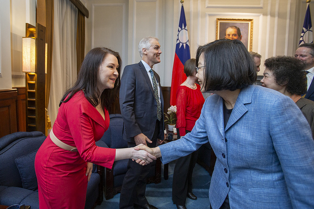 President Tsai meets with members of the board of directors from WorldSkills International.