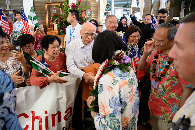 President Tsai receives an enthusiastic welcome from the overseas Taiwanese community in Hawaii.