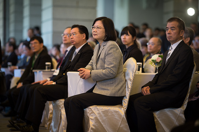 President Tsai attends an activity at the Taipei Guest House to mark Human Rights Day 2017.