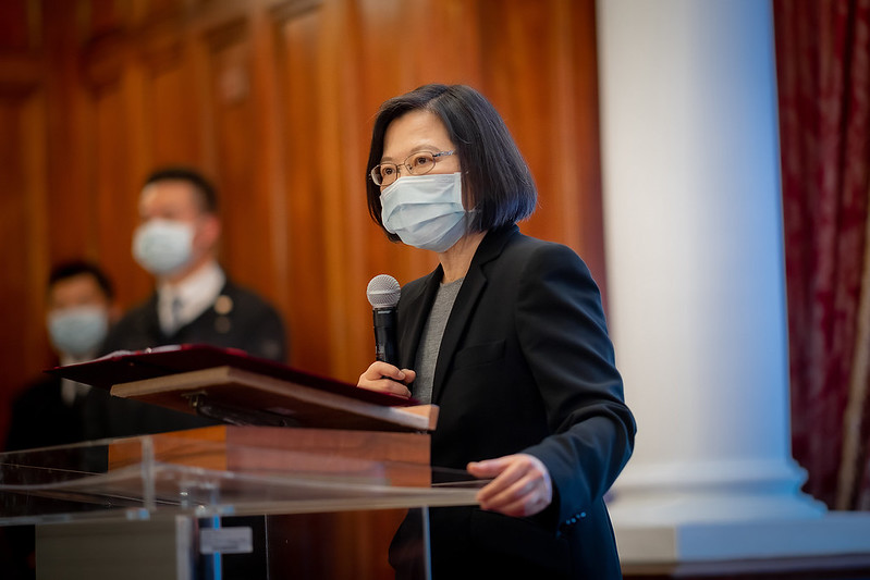 President Tsai delivers remarks at an International Holocaust Remembrance Day event.