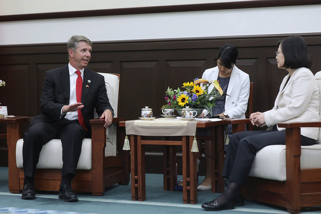 President Tsai meets with Rob Wittman, Chairman of US Congressional Seapower and Projection Forces Subcommittee.