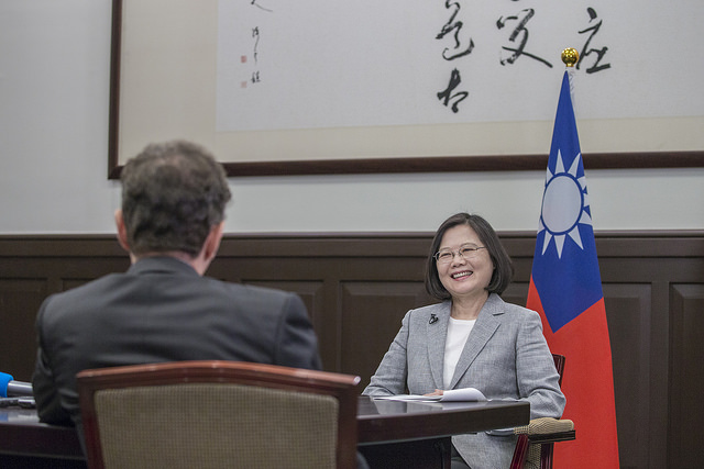 President Tsai Ing-wen is interviewed by AFP at the Presidential Office.