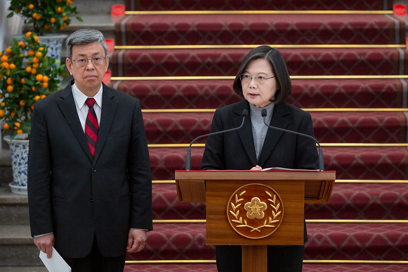President Tsai responds to questions from the media.