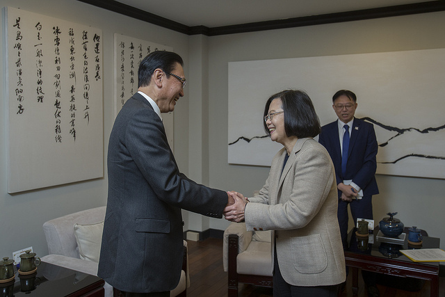 President Tsai meets with a delegation led by Japan-ROC Diet Members' Consultative Council Chairman Keiji Furuya.