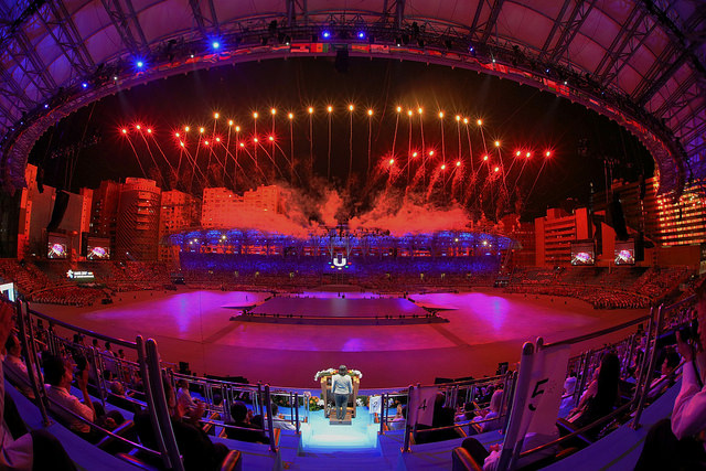 President Tsai declares the formal opening of the Taipei 2017 Summer Universiade.