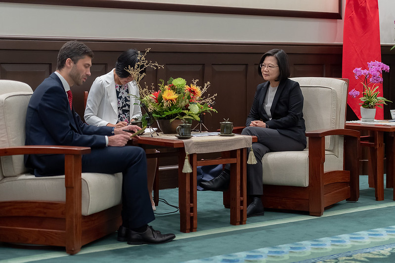 President Tsai Ing-wen meets with Head of European Economic and Trade Office Filip Grzegorzewski.