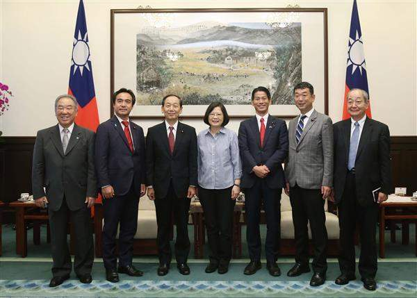 President Tsai Ing-wen meets with a delegation from Japanese House of Representatives led by Shunichi Yamaguchi.