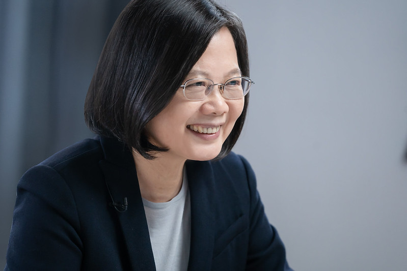 President Tsai Ing-wen delivers remarks at Hudson Institute's virtual year-end celebration.