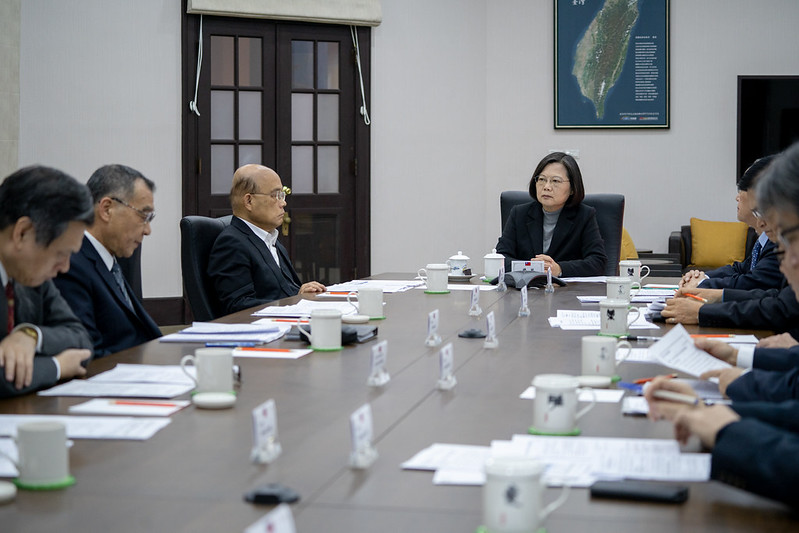 President Tsai convenes a national security meeting of senior officials to monitor developments in the Middle East.