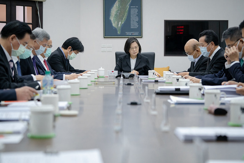 President Tsai Ing-wen convenes a high-level national security meeting.