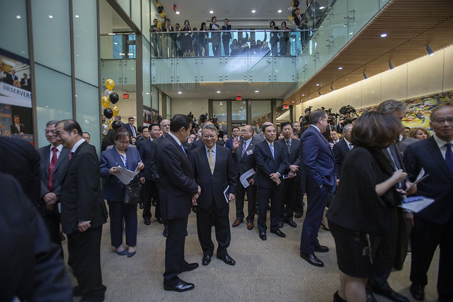 "Many distinguished guests attend the ""TRA and AIT@40: Celebrating 40 Years of Friendship"" reception hosted by the American Institute in Taiwan."