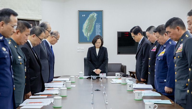 President Tsai convenes a meeting to discuss national defense and military affairs.