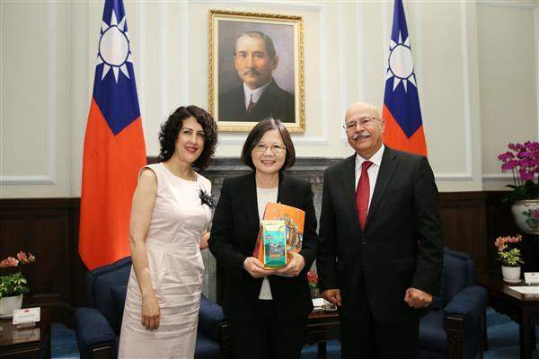 President Tsai meets with permanent representatives from diplomatic allies posted to the UN Office at Vienna and other international organizations in Austria on May 30.