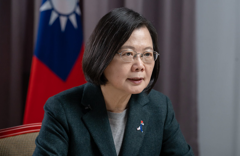President Tsai Ing-wen participates in an event at Taipei 101 via video highlighting the Taiwan-Japan friendship.