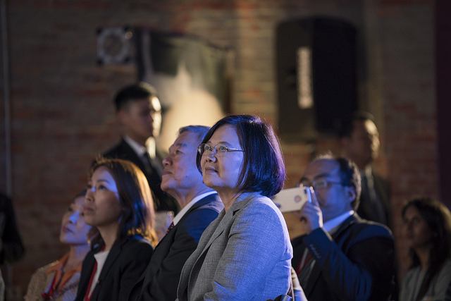 "President Tsai attends Facebook's ""Made by Taiwan, Loved by the World"" launch ceremony."
