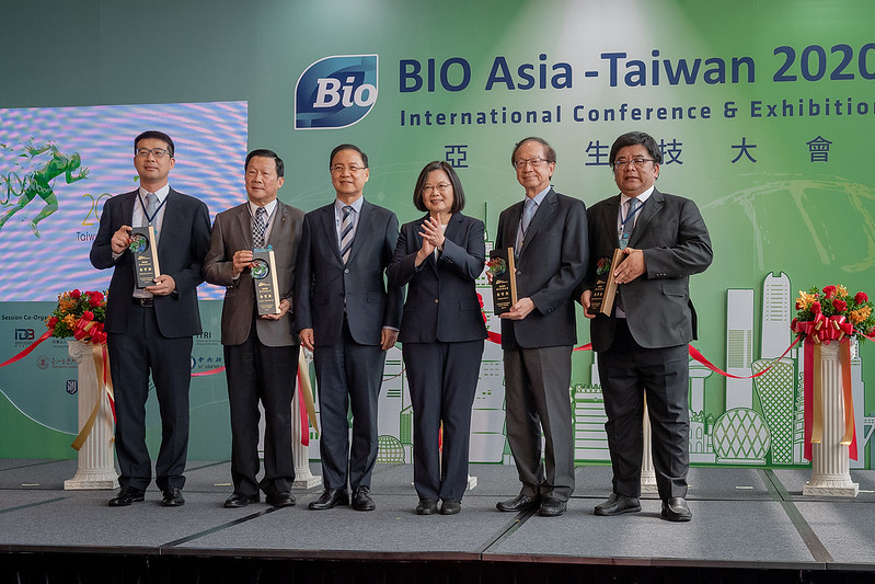 The president attends the opening ceremony for the 2020 BIO Asia-Taiwan Conference and Exhibition.
