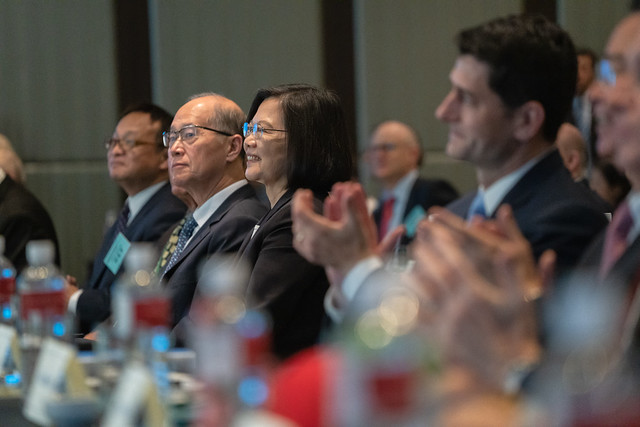 President Tsai attends the opening ceremony of the 2019 Indo-Pacific Dialogue.