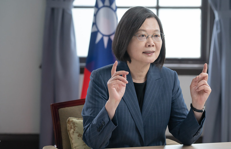President Tsai addresses the Alliance of Democracies Foundation's fourth annual Copenhagen Democracy Summit via video.