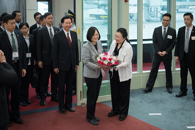 President Tsai completes her visit to three of Taiwan's Pacific island allies and returns to Taiwan.