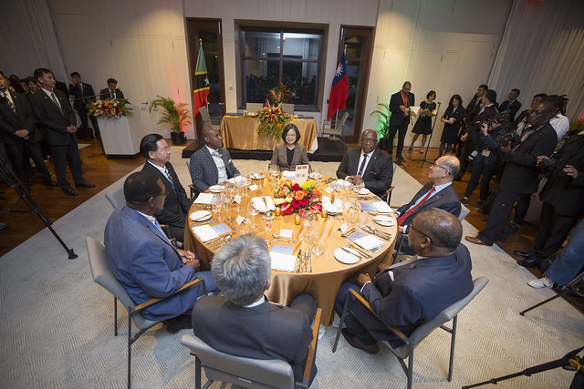 President Tsai attends a dinner banquet hosted by St. Kitts and Nevis Prime Minister Timothy Harris.