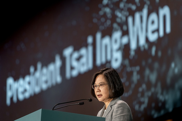 President Tsai delivers remarks at the International Conference on Achieving Sustainability in Asia-Pacific.