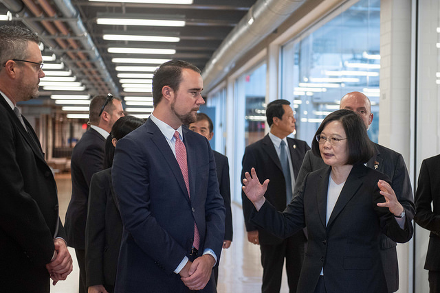President Tsai Ing-wen visits the Texas Medical Center Innovation Institute during stopover in Houston.