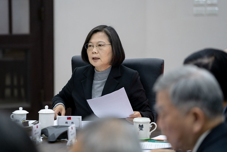 President Tsai Ing-wen convenes a national security meeting of senior officials to monitor developments in the Middle East.