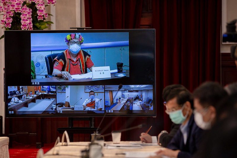 President Tsai presides over the 13th meeting of the Presidential Office Indigenous Historical Justice and Transitional Justice Committee on May 7.