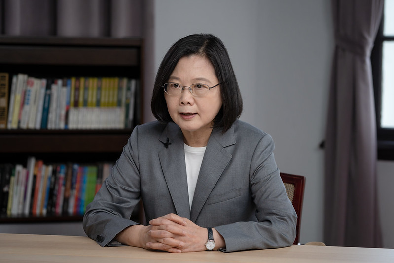 President Tsai Ing-wen delivers remarks at a videoconference co-hosted by the Hudson Institute and the Centers for American Progress.