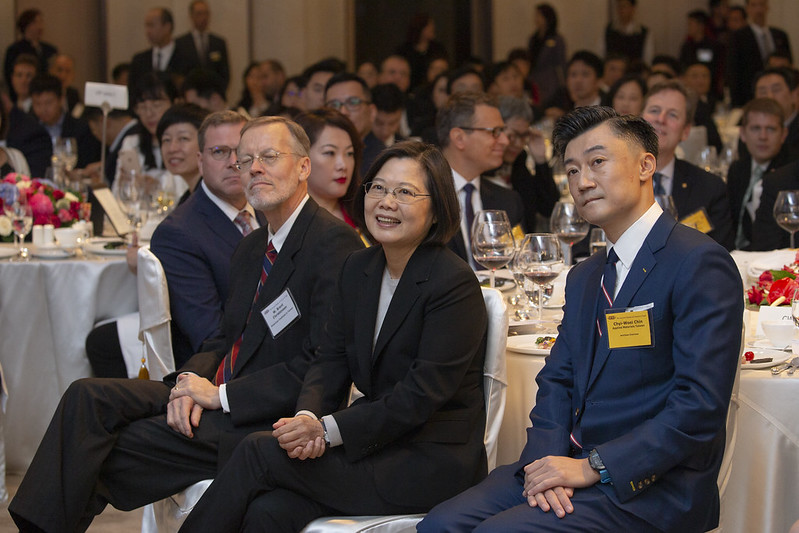 President Tsai Ing-wen attends the 2019 AmCham Taipei Annual General Meeting.