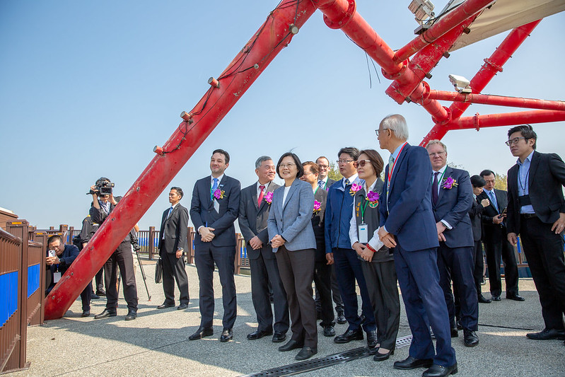 President Tsai attends the inauguration ceremony of the Formosa 1 offshore wind farm.