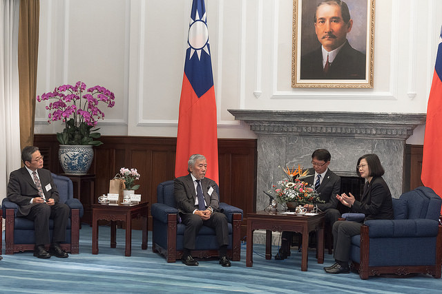 President Tsai meets with the Japanese delegation to the Fifth Taiwan-Japan Strategic Dialogue.