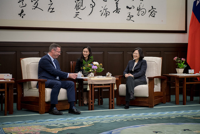 President Tsai meets with a delegation of the Belgian Parliament's Belgium-Taiwan Friendship Group.