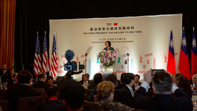 President Tsai thanks the expatriates for their staunch support.