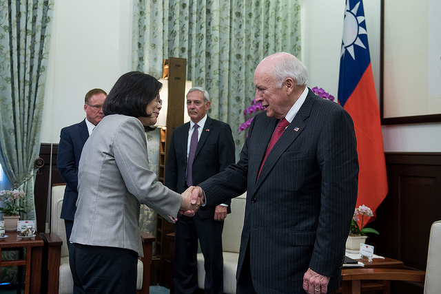 President Tsai meets with former US Vice President Richard Cheney.