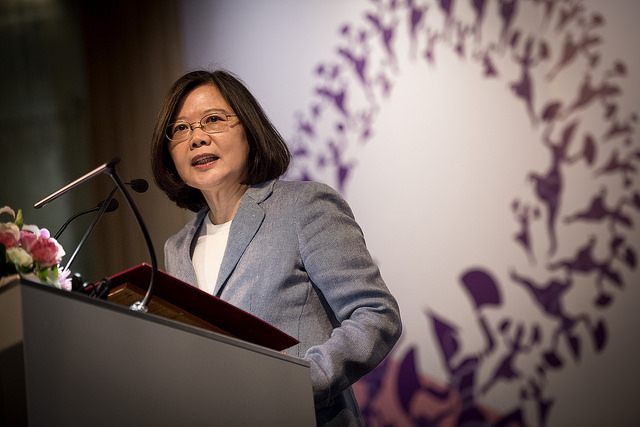 President Tsai delivers remarks at CALD Women's Caucus Conference.